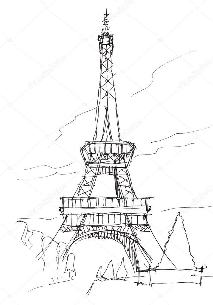 Eiffel tower doodle sketch — Stock Photo © glowonconcept ...