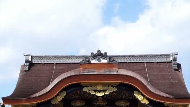KYOTO, JAPAN - March, 2015: Historic Shogun castle,  Nijo jo palace in Kyoto, Japan