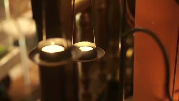 Video of candle chandelier decorate oriental style