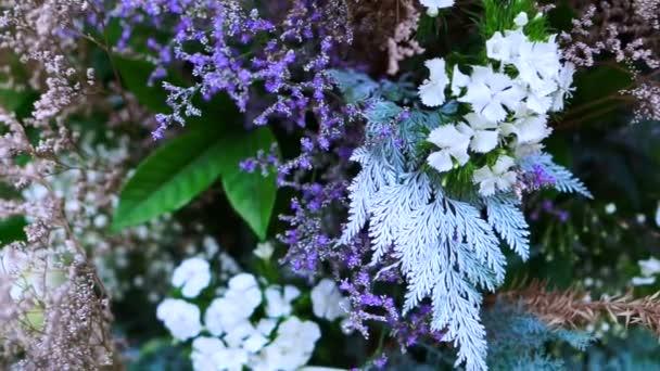 fialový a bílý květ a pastelově růžové svatební romantické pozadí
