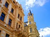 Fotografie krásné barevné architektury z Karlových Varů v České Repub