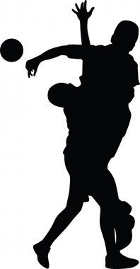handball player silhouette vector