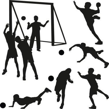 Handball men vector