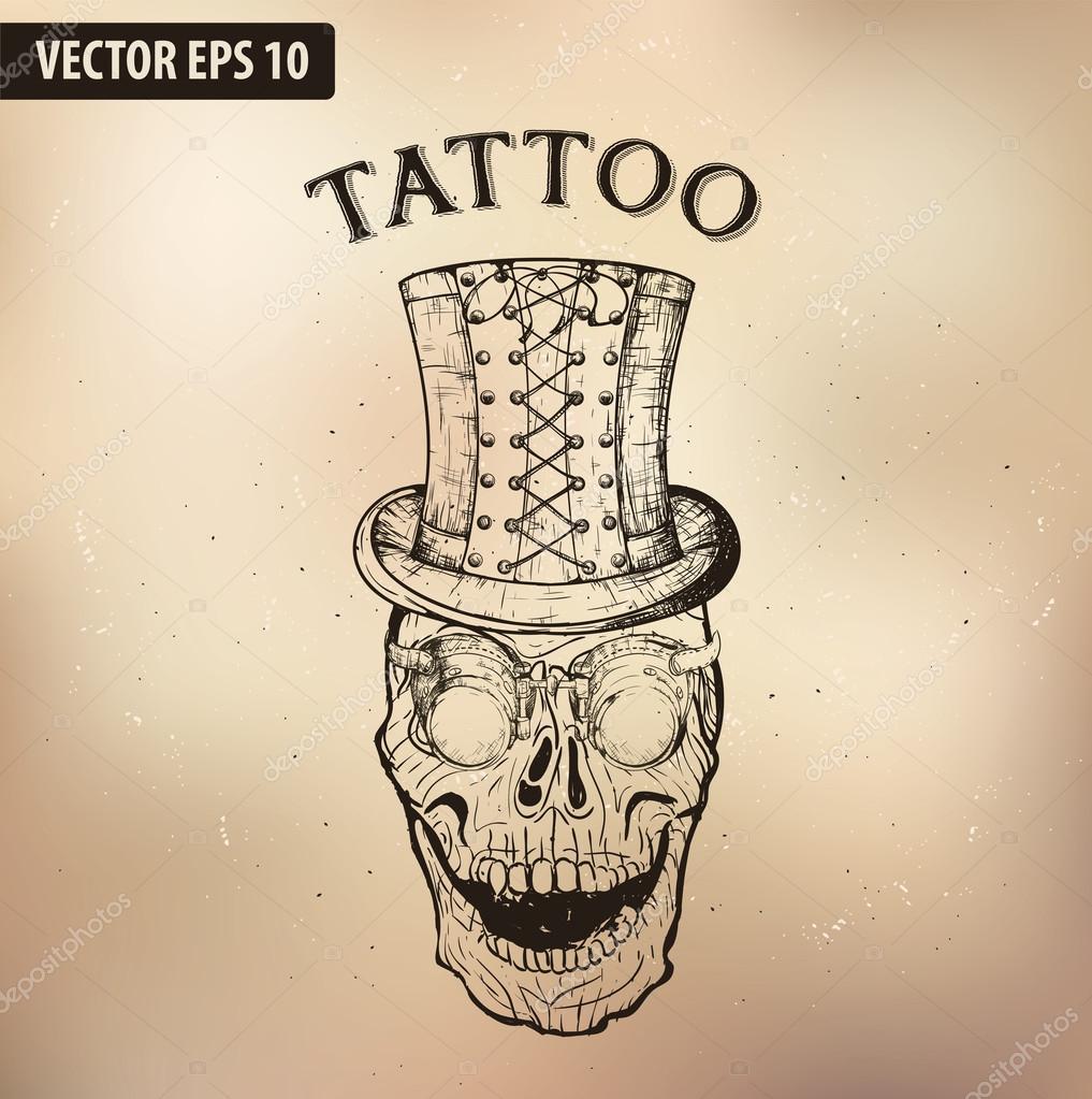 Teschio Tatuaggio Stilizzati ImmaginiTeschi TattooSteampunk vmON80nw