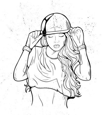 Rap attractive girl