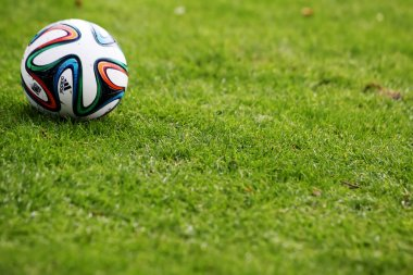Greek Superleague Brazuca (Mundial) ball on the field during the