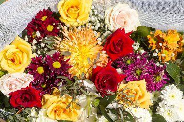 Beautiful flower bouquet with bunch of flowers.