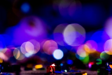 Defocused entertainment concert lighting on stage, bokeh.