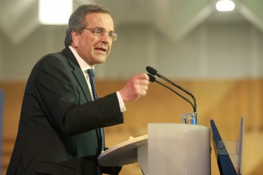 Prime Minister Antonis Samaras visits Thessaloniki to give his