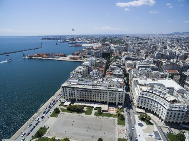 Aerial view of Aristotelous Square in Thessaloniki. Greece