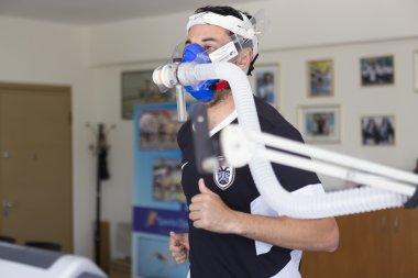 Panagiotis Deligiannidis football player of PAOK while going thr