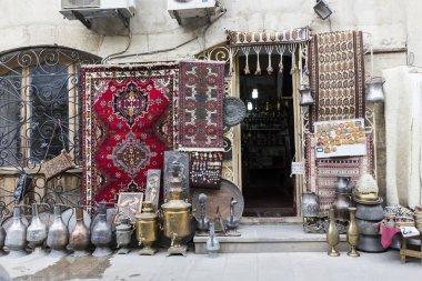 Icheri Sheher (Old Town) of Baku, Azerbaijan. Typical tourist sh
