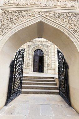 Beautiful Mosque door ornament texture in Baku
