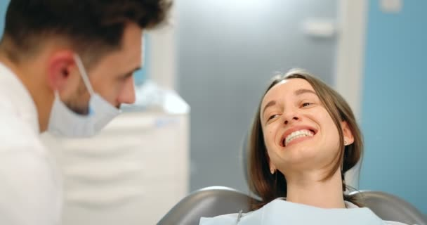 Patient with a doctor at the dental office