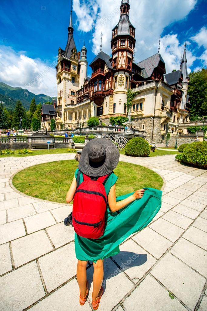 Tourist in Peles castle