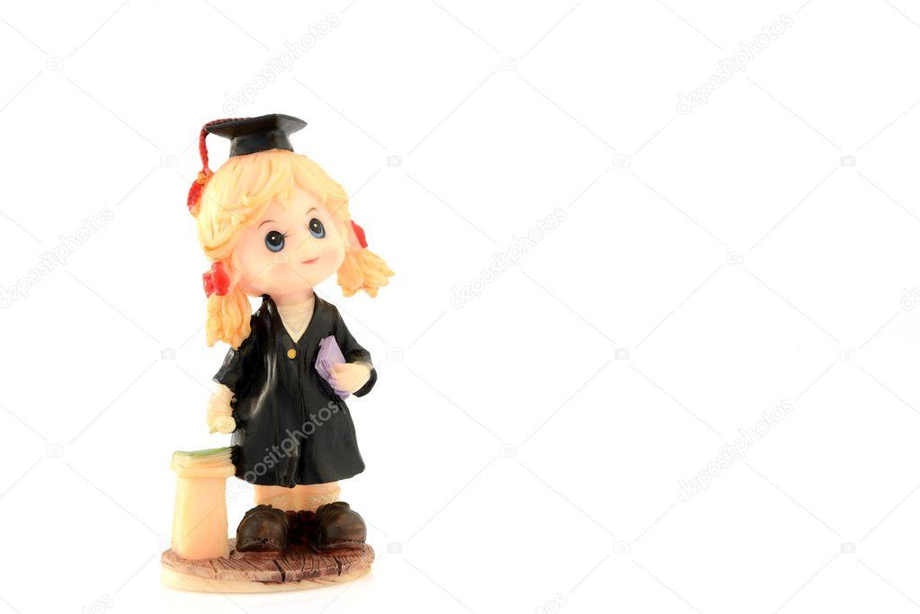 Muñeca de la muchacha se graduó — Foto de stock © narapornm #112525086