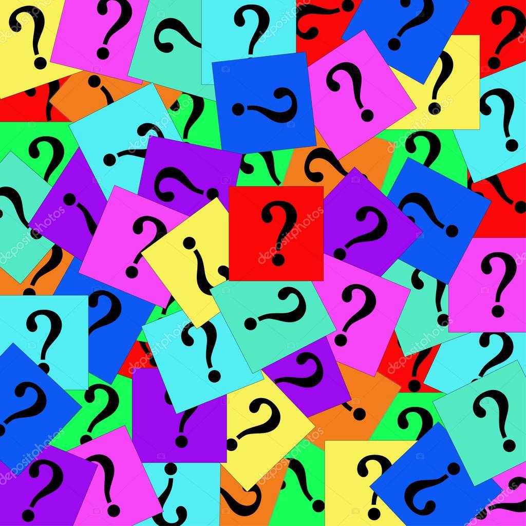 Your Questions About Grasscloth Wallpaper Answered: Coloridos Pontos De Interrogação