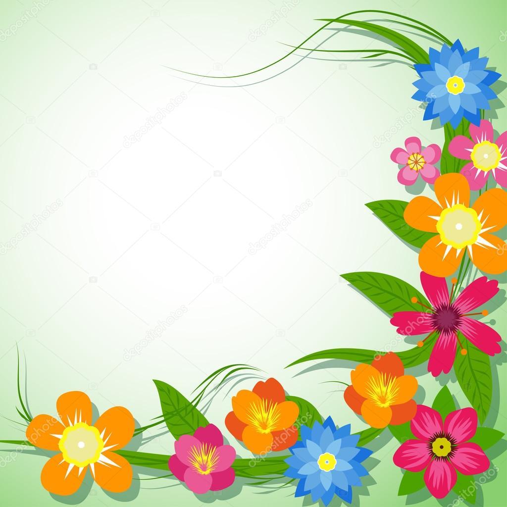 ilustracin vectorial de flores de primavera Archivo Imgenes
