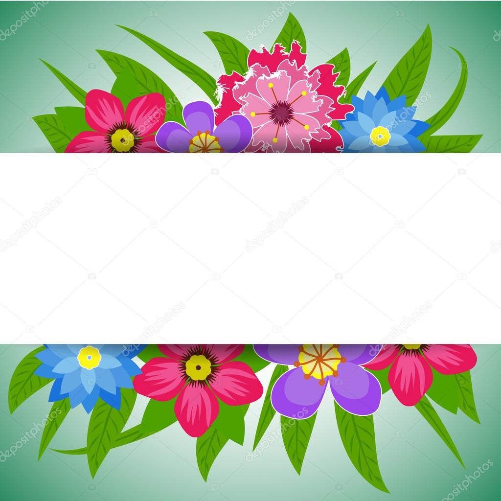 Vector illustration of Spring Flowers