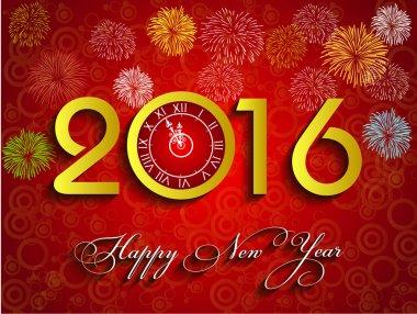 Beautiful text Happy New Year 2016