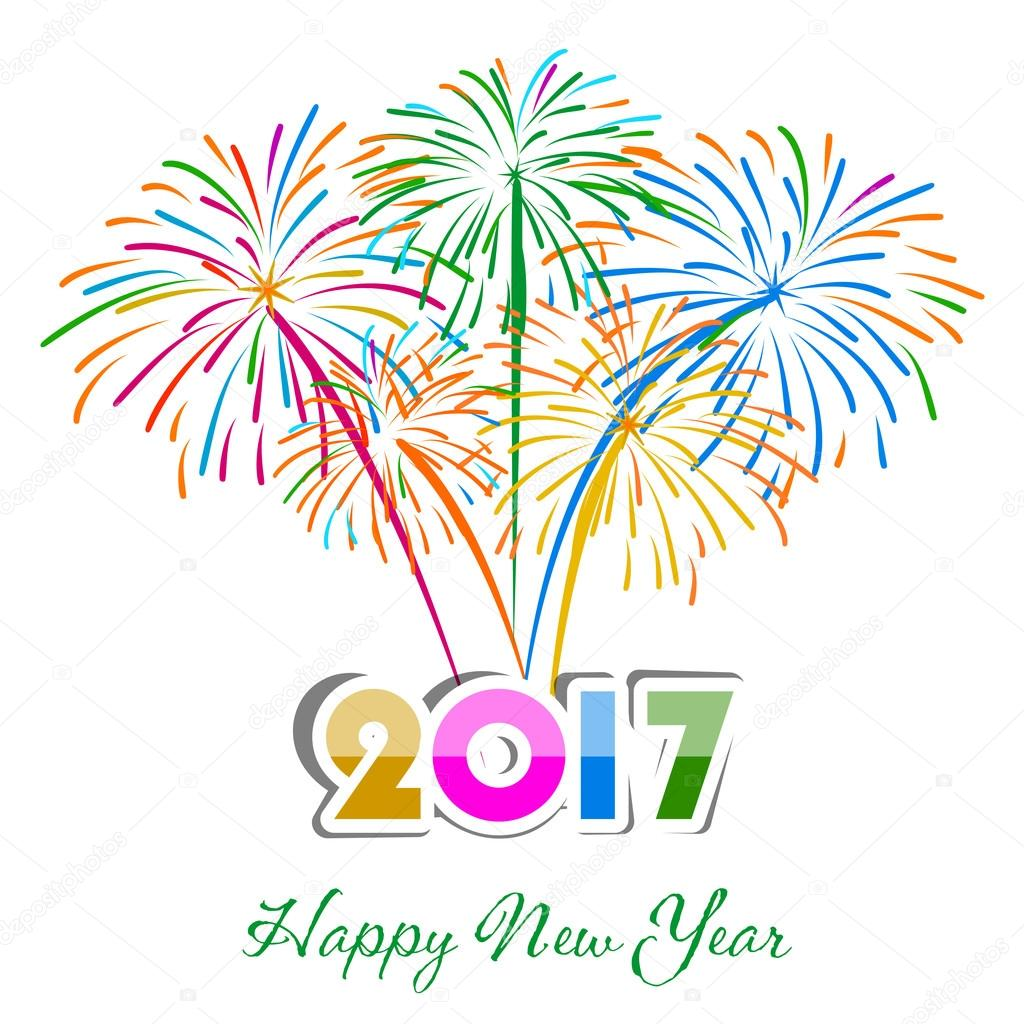 Happy new year fireworks 2017 holiday background design stock happy new year fireworks 2017 holiday background design stock vector voltagebd Images