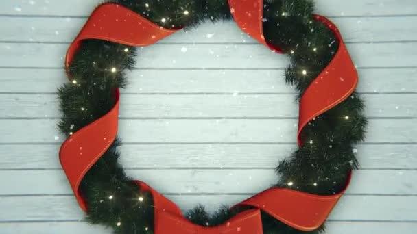 Konceptuální vánoční pozadí s padajícím sněhem