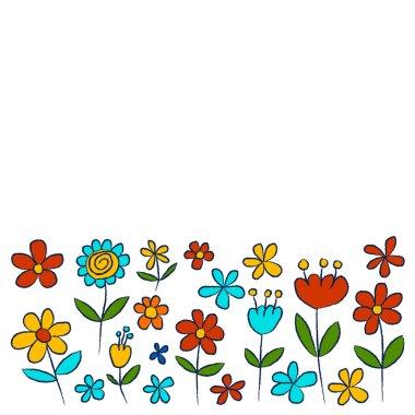 "Картина, постер, плакат, фотообои ""vector set of doodle flowers"", артикул 113799456"