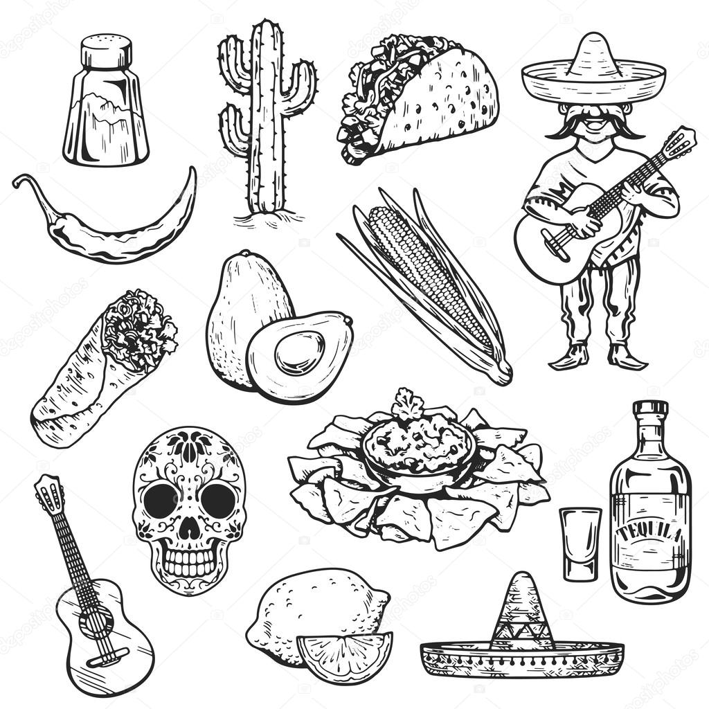 how to draw mexican food