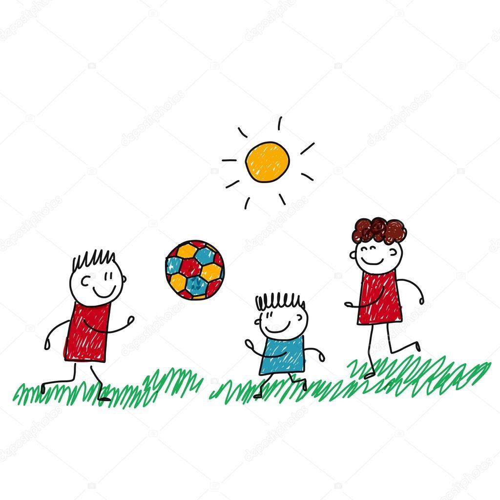 Disegni Bimbi Che Corrono Immagine Di Vettore Di Bambini Felici