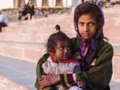 Indiai utca gyerek Pushkar, India