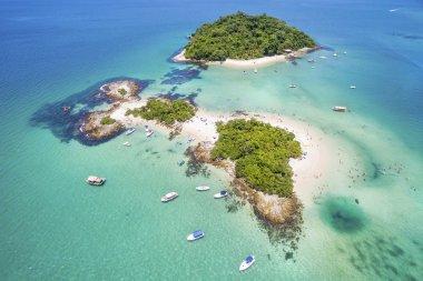Aerial View of Cataguases Island in Angra dos Reis, Rio de Janeiro, Brazil