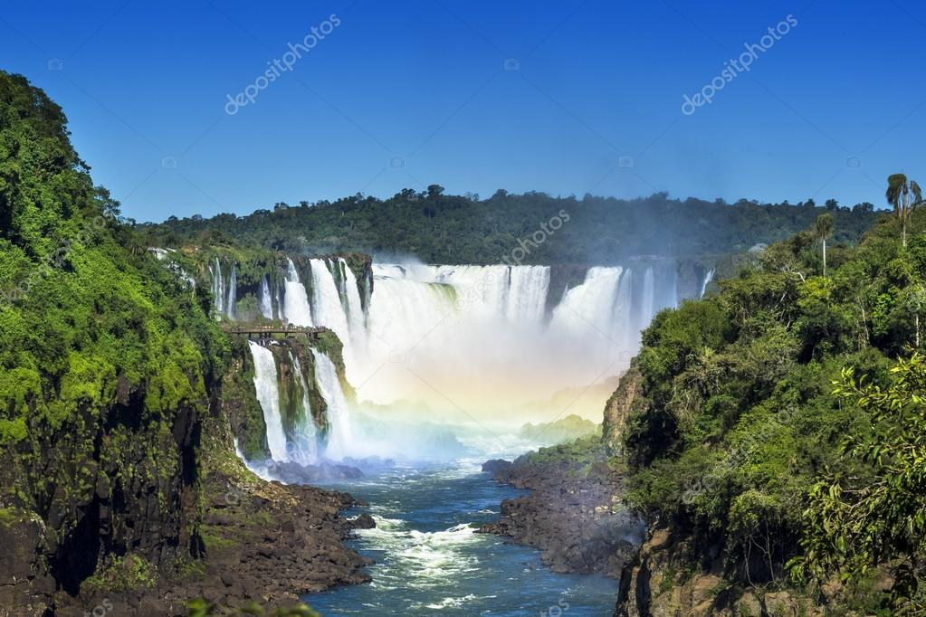 Iguazu Falls, on the Border of Brazil, Argentina and Paraguay