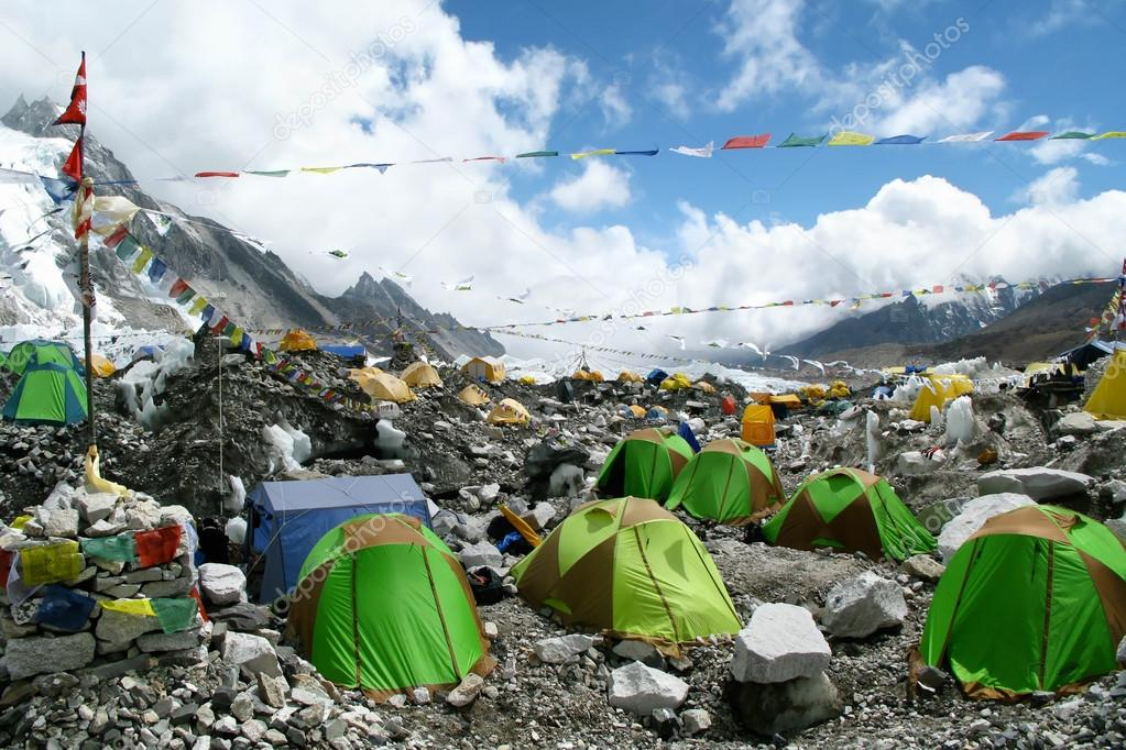 Tents at Everest Base Camp, Khumbu Region, Nepal
