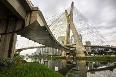 Octavio Frias De Oliveira Bridge (Ponte Estaiada) In Sao Paulo, Brazil