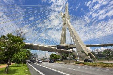 The Octavio Frias de Oliveira Bridge in Sao Paulo, Brazil