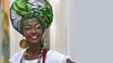 Brazilian Woman Dressed In Traditional Baiana Attire, Salvador, Bahia, Brazil