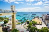 Výhled na záliv všech svatých v Salvadoru, Bahia, Brazílie