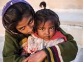Indian utcai gyermek Józsi, Rajasthan, India