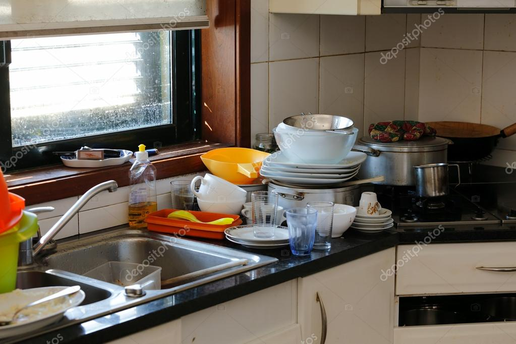 cocina desordenada — Foto de stock © zacariasdamata #64034207