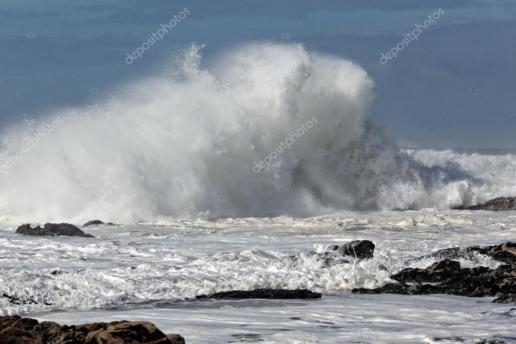 Sunny rough sea