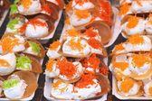 Detailní záběr thajské křupavá placka - smetana palačinky