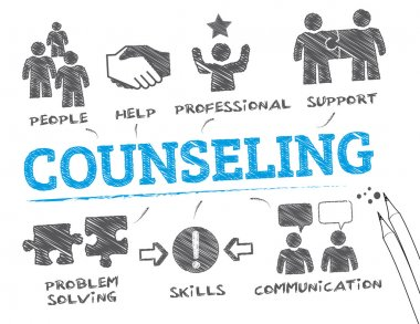 counseling concept vector illustration