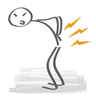 Backache Vector Illustration