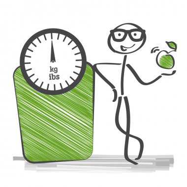 The body mass index is a measure of relative size based on the mass and height of an individual. clip art vector