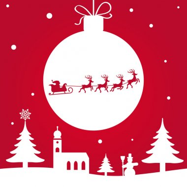 silhouette - Christmas greeting card