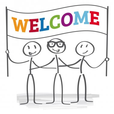 welcome sign - vector illustration