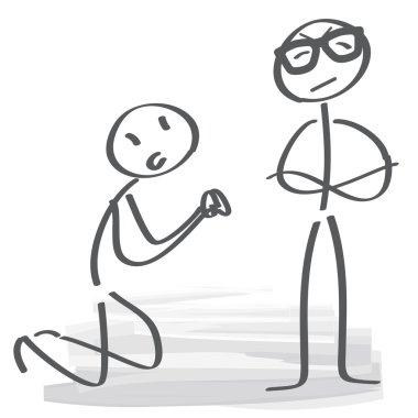 Staff apologized vector illustration