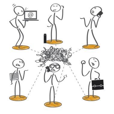failed communication vector illustration