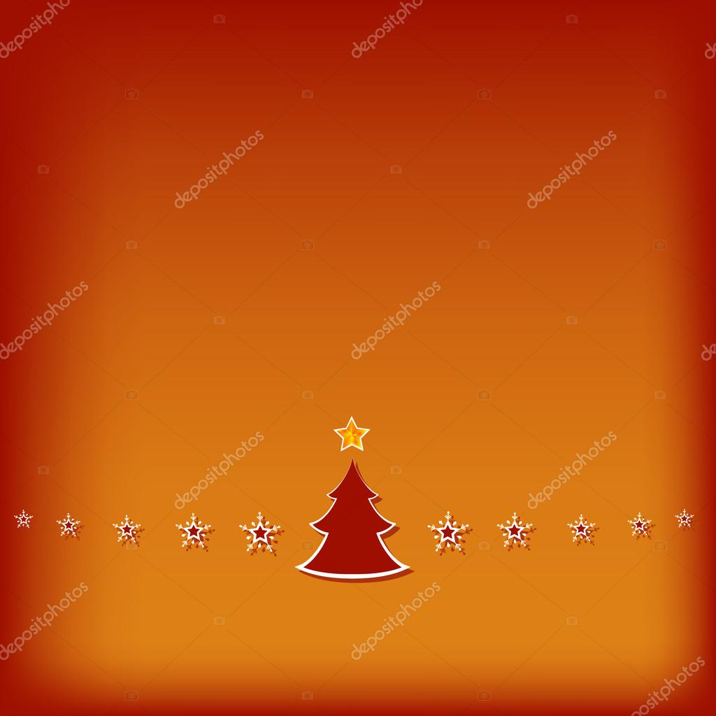 Simple Red Christmas Greeting Card Stock Vector Katarinagondova