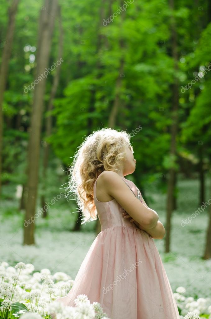 beautiful fairy girl in woods